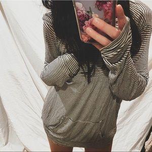 brandy melville oversized striped hoodie